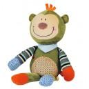 Zabawka małpka z grzechotką